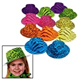 Neon Animal Print Gangster Hats (1 dz)