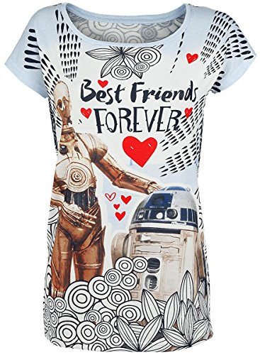 Star Wars Best Friends Forever Maglia donna multicolore M