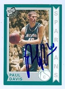 Paul Davis autographed Basketball Card (Michigan St.) 2006 Press Pass #16