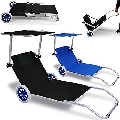 ALU-Strandliege KRETA klappbar - Gartenliege Strand Sonnenliege Liegestuhl Liege von Deuba - Gartenmöbel von Du und Dein Garten