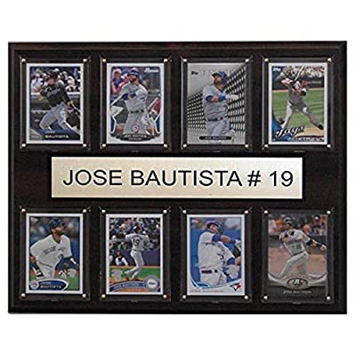 C and I Collectables MLB 15W x 12H in. Jose Bautista Toronto Blue Jays 8 Card Plaque