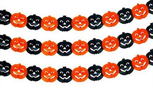 (ビグッド)Bigood ハロウィンモチーフガーランド ペーパーガーランド グッズ 紙製 ウォールデコレーション 天井飾り グッズ オーナメント ハロウィン飾り カボチャA