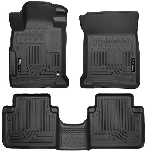 Husky Liners 98481 WeatherBeater Black Front and 2nd Seat Floor Liner (Car Mats Honda Accord compare prices)