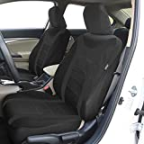 FH-FB070115 Sports Fabric Seat Covers Airbag compatible and Split Bench, Black
