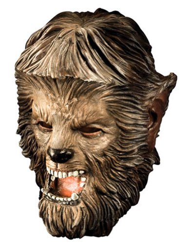 Scary-Masks Wolfman Deluxe Latex Mask Halloween Costume - Most Adults