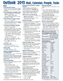 Microsoft Outlook 2013 Mail, Calendar, People, Tasks Quick Reference (Cheat Sheet of Instructions, Tips & Shortcuts - Laminated Guide)