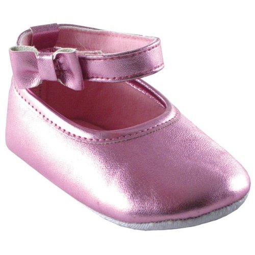 Girl Ankle Bow Shoe, Light Pink, 12-18 months