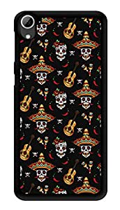 "Humor Gang Mexican Guitar Printed Designer Mobile Back Cover For ""HTC DESIRE 826"" (3D, Glossy, Premium Quality Snap On Case)"