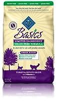 Blue Buffalo Basics Turkey & Potato Recipe for Cats Indoor Mature-Grain Free Dry Cat Food, 11 lb Bag