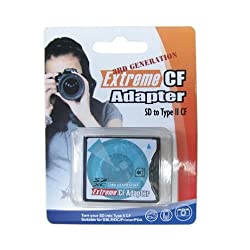 3rd Extreme Compact Flash Card Adapter SDHC SDXC WIFI SD to Type II CF (Up to 64G)