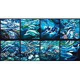 North American Wildlife Panel Sealife Ocean Fabric