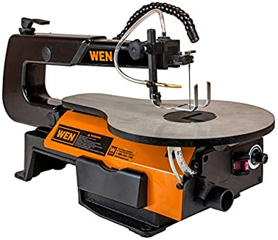 WEN 3920 16-inch Variable Speed Scroll Saw With Flexible LED Light by Great Lakes Tool MFG INC