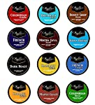 Angelino's Coffee Variety Pack for Keurig K-cup Brewers, 50ct or 100ct Single Cup Sampler for Keurig Kcup Brewers, 12 Assorted Types