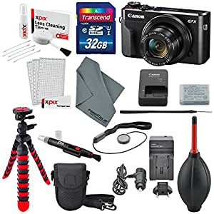 Canon PowerShot G7 X Mark II Digital Camera with Deluxe Accessory Bundle and Cleaning Kit
