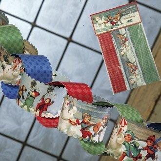 Vintage Christmas Paper Chain Garland Kit