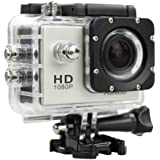 Sunco® Dream 2 SJ4000 1080P Action Camera Digital Camcorder 12MP 30M Waterproof Sports Camera  Motorcycle   Helmet Camera HD Video Camera Silver