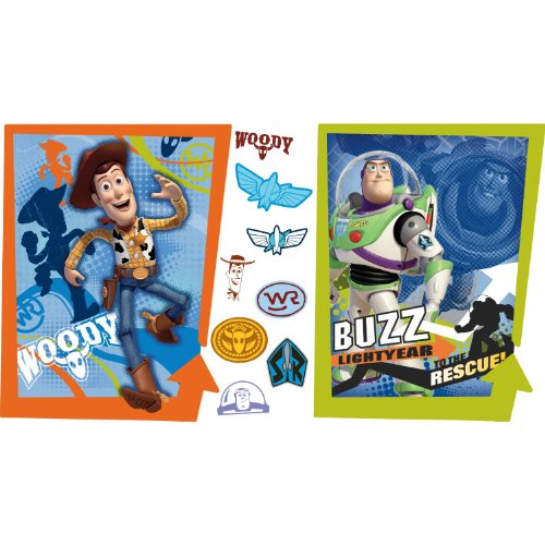 RoomMates RMK1495GM Toy Story 3 Buzz and Woody Peel & Stick Giant Wall Decals