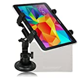 Dealgadgets 360 degrees Adjustable Tablet Car Mount Holder for 7-10 Inches Tablets: Samsung Galaxy Tab 3 4 pro note 7.0/8.0/8.4/10.1, Sony Xperia Z/Z2 Tablet, iPad Air/mini/1 2 3 4, Kindle Fire HD 7 8.9/HDX 7 8.9, etc + Free Cleaning Cloth