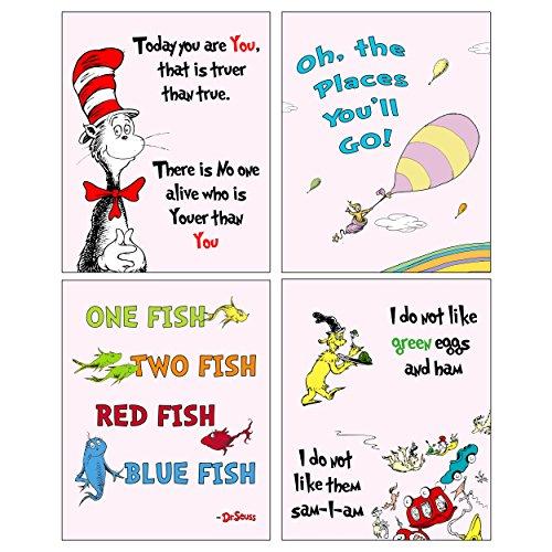 Dr Seuss Set of four ART Prints