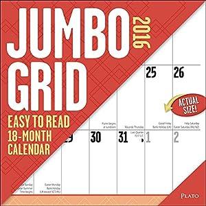 Jumbo Grid Wall Calendar