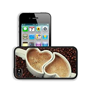 Hearts Lovers Mug Cup Apple iPhone 4 / 4S Snap Cover Premium Leather ...