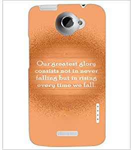 PrintDhaba Quote D-3935 Back Case Cover for HTC ONE X (Multi-Coloured)