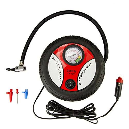 YoYoflyer Brand New 260PSI DC 12V Portable Mini Electric Tire Inflator Air Compressor Air Pump for Car Tire Bike Tires Rubber Floater Balls  available at amazon for Rs.2849