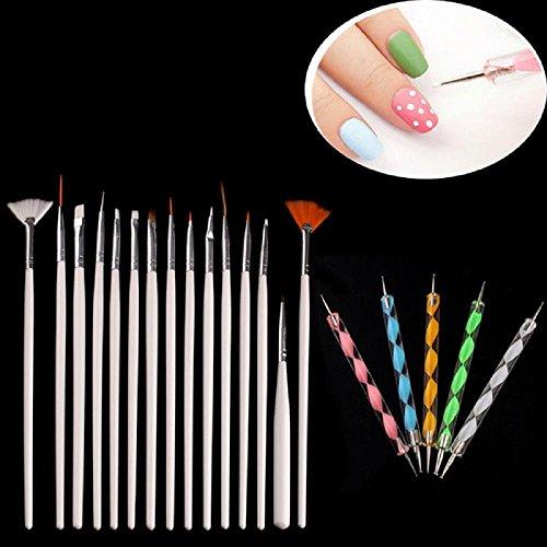 Kinghard 20PCS Nail Art Design Dotting Painting Drawing Polish Brush Pen Tools (Acrylic Paint Set 48 Count compare prices)
