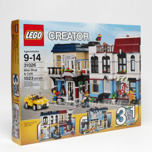 LEGO-Creator-31026-Building-Set-Bike-Shop-and-Cafe-Toy-New-Sealed-MINT-3-in-1