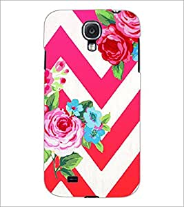 PrintDhaba Flowers D-1176 Back Case Cover for SAMSUNG GALAXY S4 (Multi-Coloured)