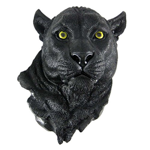 Black Panther Head Mount Wall Statue Bust (Statue Head compare prices)