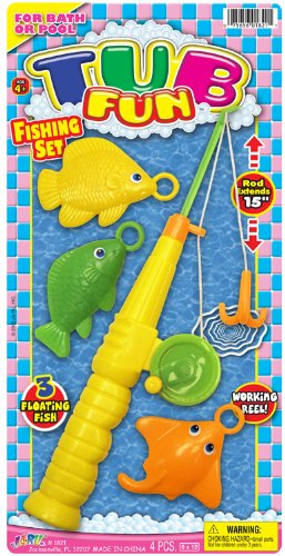Ja-Ru Tub Fun Fishing Set Party Favor Bundle Pack