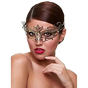 Baci Women's Golden Goddess Eye Mask with Crystals