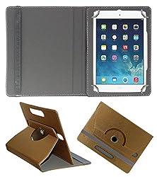 Acm Designer Rotating 360° Leather Flip Case For Apple Ipad Mini 4 Tablet Stand Premium Cover Golden