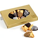 Chocolate Hand Dipped Hamantashen Purim Basket - 8-pc.