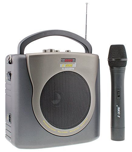 5 Core PA FC-623USB/FM Rechargeable Portable Wireless Amplifier with USB,AUX & Microphone