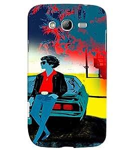 Fuson 3D Printed Gun Man Designer back case cover for Samsung Galaxy Grand Neo Plus - D4259