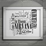 Nirvana - Nevermind - Signed & Numbered Limited Edition Typography Unframed 10x8 Wall Art Print - Song Lyrics Mini Poster