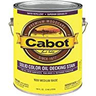 Cabot Solid Color Oil-Based Decking Stain-MED BS SOLID DECK STAIN