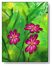 Floral Oil Painting Password Log