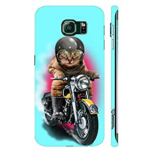 Samsung Galaxy S6 Edge Cat Coolio designer mobile hard shell case by Enthopia