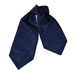 ERA7D01B Dark Blue Polka Dots Halloween Woven Silk Ascot Tie Cravats Various Shopstyle By Epoint