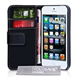 Yousave Accessories PU Leather Wallet Case for iPhone 5/5S - Blackby Yousave Accessories
