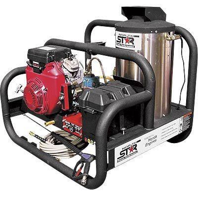- NorthStar Gas-Powered Hot Water Pressure Washer with Honda Engine - 4000 PSI, 4 GPM, Skid Style