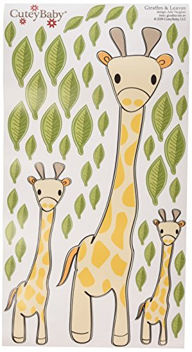 CuteyBaby Illustrated Wall Decals, Giraffes