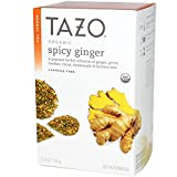 Tazo Teas, Organic Spicy Ginger, Herbal Infusion, Caffeine Free, 20 Philtrebags, 1.3 oz (38 g)