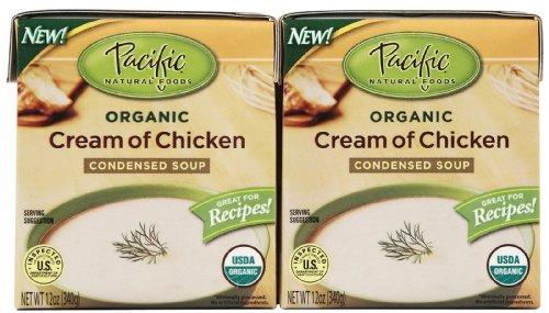 Pacific Natural Foods Organic Cream Of Chicken Condensed Soup, 12 oz Boxes, 2 pk (Condensed Cream compare prices)