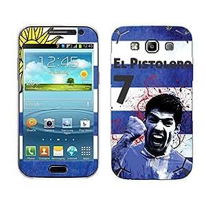 Bluegape Samsung Galaxy Grand Quattro i8552 Luis Suarez Football Player Phone Skin Cover, White
