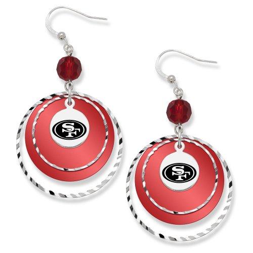 Nfl San Francisco 49Ers Logoart Game Day Earrings