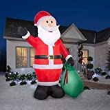Airblown Inflatables 39845 Santa with Gift Sack Christmas Airblown GIANT 12 FT TALL (Color: Red, White, Green)